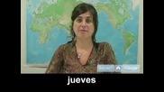 Научете Се Да Говорите На Испански - Дните От Седмицата