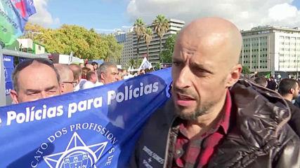 Хиляди португалски полицаи на протест за по-добри заплати