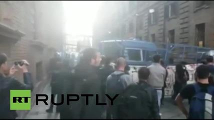 Противници на Експо 2015 в сблъсъци с полицията в Милано