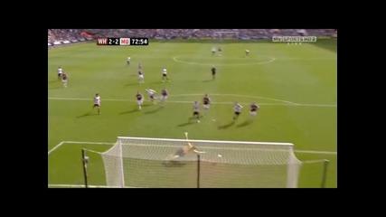 Уест Хям - Манчестър Юнайтед 2 - 2 гол на Рууни