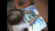 Дете на 3 г. с изумителен талант