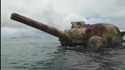 След Втората световна война.. Usmc Wwii M4 Sherman - Saipan