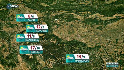 Прогноза за времето на NOVA NEWS (28.09.2021 – 11:00)