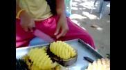 Как да разрежем ананас