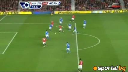 Manchester United vs Wigan Berbatov s 3 gola