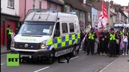 UK: EDL scuffle with anti-fascist protesters in Essex