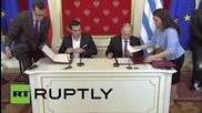 Russia: Putin and Greek PM Tsipras sign cooperation agreement 2015-2016