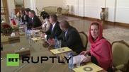 Iran: FM Zarif welcomes Czech FM Zaoralek to Tehran