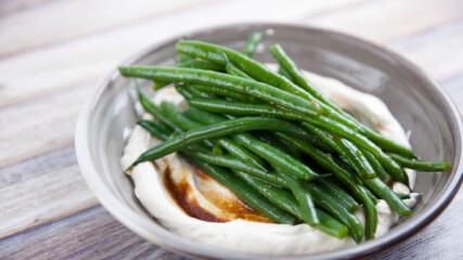 Зелен фасул с крем фреш и козе сирене | Джъстин Скофийлд | 24Kitchen Bulgaria