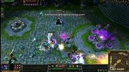 League Of Legends - Mundo Бие само главички :d