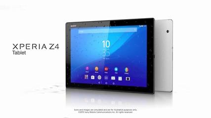 Sony Xperia Z4 Tablet е изключително тънък и лек
