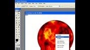 как да си направим огнена планета с photoshop