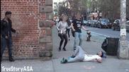 Убийство на човек на улицата - Шега