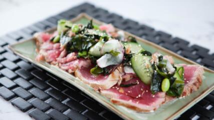 Риба тон татаки със салата с уакаме | Джъстин Скофийлд | 24Kitchen Bulgaria