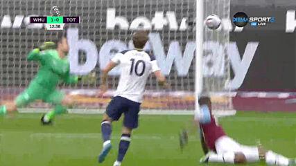 Уест Хем Юнайтед - Тотнъм Хотспър 1:0 /първо полувреме/