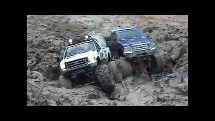 2 Fords tamiya F350 - mud