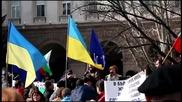 Miting v Sofia Stop agresia Rusia 20150221