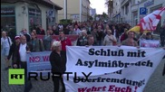 Germany: NPD march through Reisa denouncing Merkel's refugee policy
