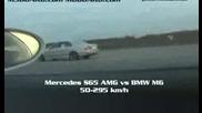 Mercedes S65 Amg vs Bmw M6 50 - 295 kmh