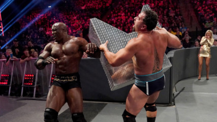 Bobby Lashley brutally drives Rusev into the steel ring steps: WWE TLC 2019