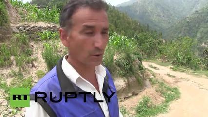 Запис на вторичния трус от 7.3, ударил Непал след голямото земетресение