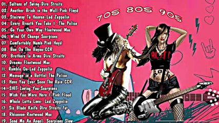 Best Rock Hits Pink Floyd, dire Straits, led Zeppelin, bon Jovi, the Police, scorpions