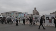 Ukraine: Anti-govt. protesters rally on Independence Square