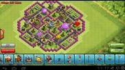 Clash of Clans - Town Hall Level 8 база за събиране на ресурси.