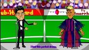 Луис Суарес и Неймар се появиха на сцената! - Забавна футболна анимация.