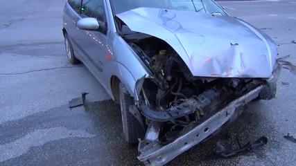 Линейка катастрофира в Пловдив, пострада лекарка