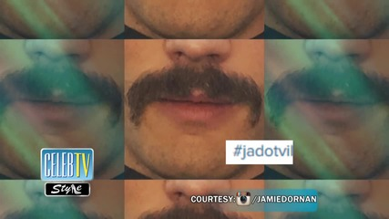 See Jamie Dornan's Stache!