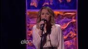 .. Майли изпълнява You're Gonna Make Me Lonesome When You Go в шоуто на Елън - 6 февруари ..