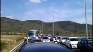 Протеста на феновете на Цска, на автомагистрала Хемус.