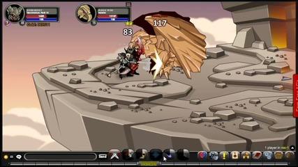 Adventure Quest Worlds battles #2:rock Roc solo