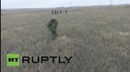 Ukraine: Drone captures dangerous mine clearances in Donetsk
