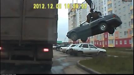 Руски паяк: Как се вдига кола в Русия.