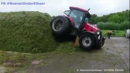 Този тракторист си разбира от работата !