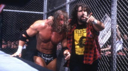 Triple H vs. Cactus Jack – WWE Championship Hell in a Cell Match: No Way Out 2000