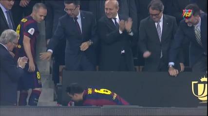 Купата на Краля,е в ръцете ни!/fc Barcelona's Cup celebrations at Camp Nou