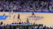 Kevin Durant alley-oop на Russell Westbrook