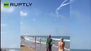 Два самолета се сблъскаха по време на авиошоу в Италия