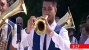 Духовата Музика на Ненад(флигорни)която свири и за България(дунавско Хоро)- Ново - Браво!:)