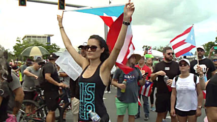 Puerto Rico: Anti-govt. protests hit San Juan for the 10th day in a row