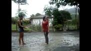 Soaking wet girls