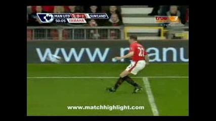 Premier League (tip! Manchester United - Sunderland) Gol Berbatov!!