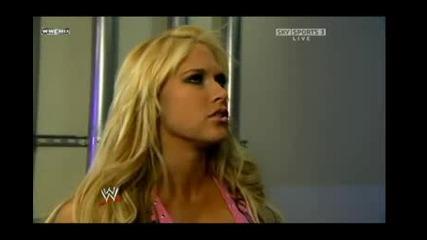 Raw 29.12.08 Kelly Kelly & Randy Backstage