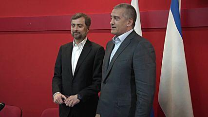 Russia: Head of Crimea awards Surkov with 'For Faithful Duty' medal