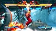 Street Fighter x Tekken - Ryu and Ken vs Hwoarang and Dhalsim Hd Gameplay
