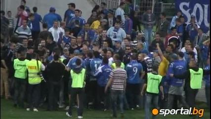 Синята радост след мача в Ловеч Hq