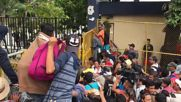 Guatemala: Migrant caravan storms Guatemala-Mexico border en route to USA